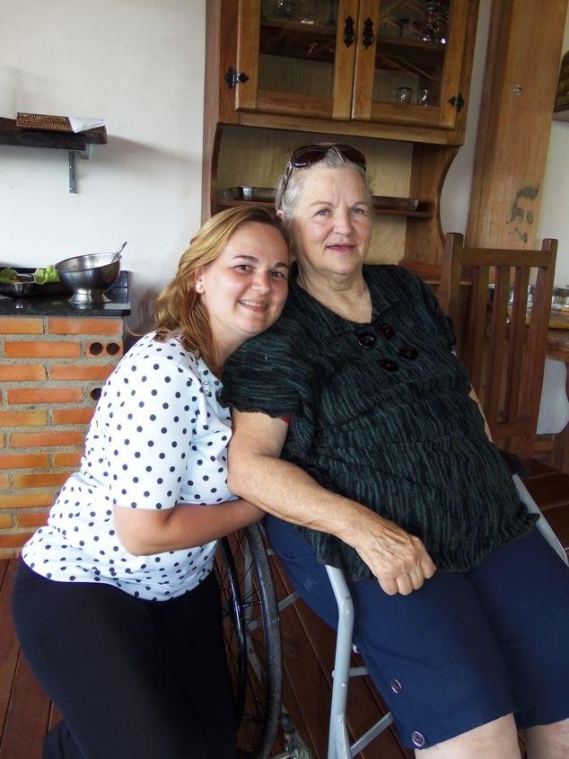 As anfitriãs Cyntia e Noeli Mocellin