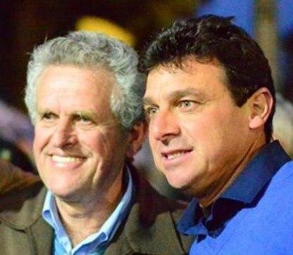 O vice-prefeito eleito de Quatro Barras, Roberto Adamoski e o prefeito eleito Angelo Andreatta - Lara
